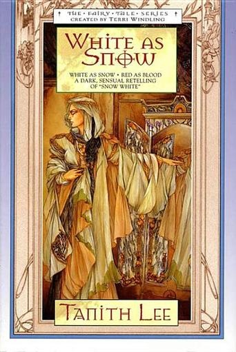 White As Snow by Tanith Lee.  A book about the evil stepmother.  It was too disturbing for me but I love the cover art.