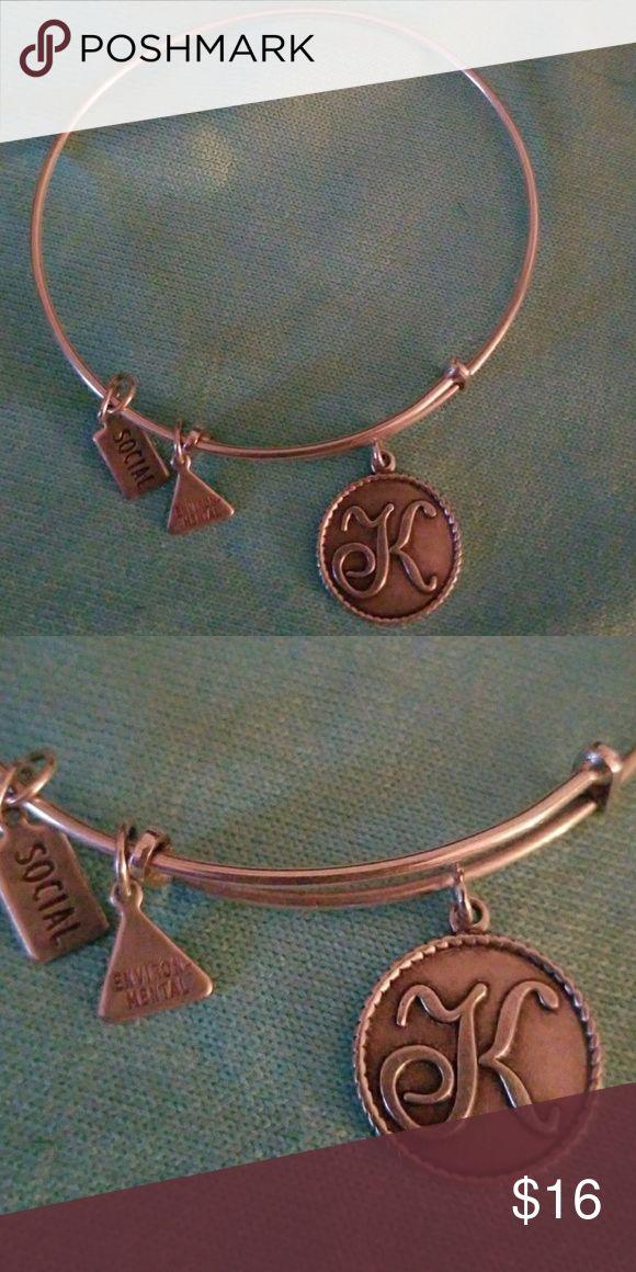 """Alex & Annie bracelet Alex & Anni """"K"""" toggle Alex and Ani Jewelry Bracelets"""