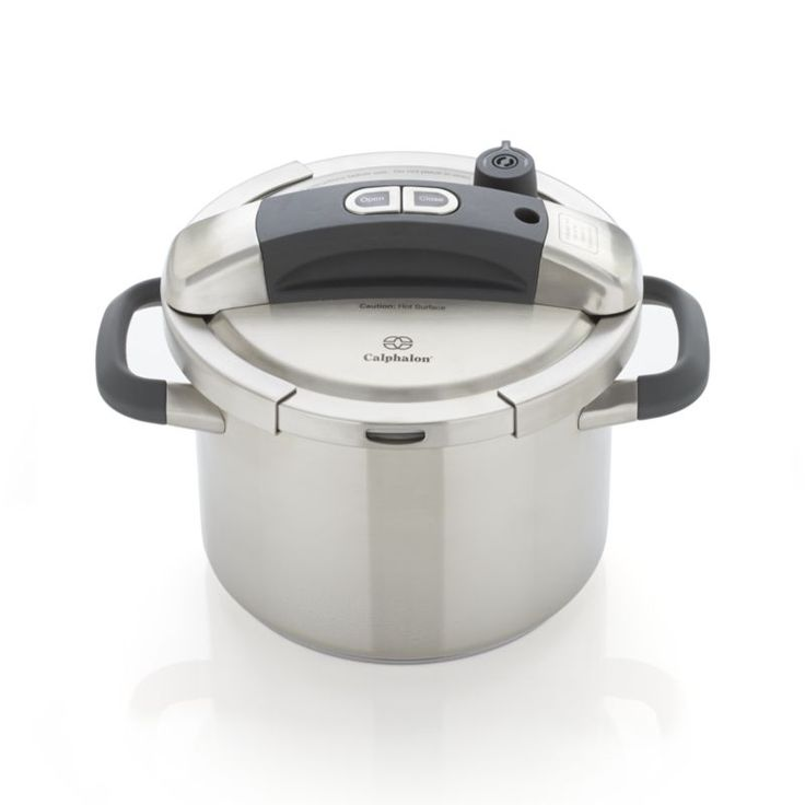 Forget yesterday's pressure cooker and embrace the future of quick, easy cooking that retains valuable nutrients.  Pressure cooking can reduce cooking times up to 50%, even for slow-cooked dishes such as pot roast, chili, short ribs and stews.  One-button locking system, a specially designed lid and intuitive pressure-regulating controls make this an exceptionally easy, efficient solution for home cooks.