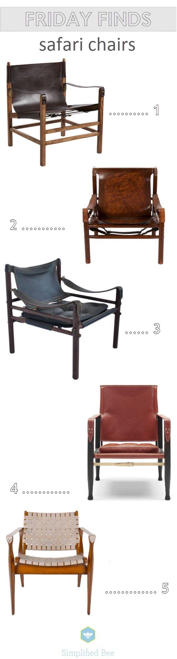 leather safari chairs // via @simplifiedbee