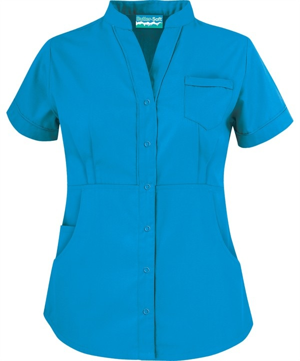 Butter-Soft Scrubs by UA™ Women's Solid Mandarin Collar Snap Front Scrub Top $15.99 in Spring Lake  http://www.uniformadvantage.com/pages/prod/mandarin-snap-front-top.asp?navbar=11=ledro