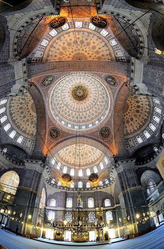 Floor to ceiling - New Mosque, Istanbul, Turkey