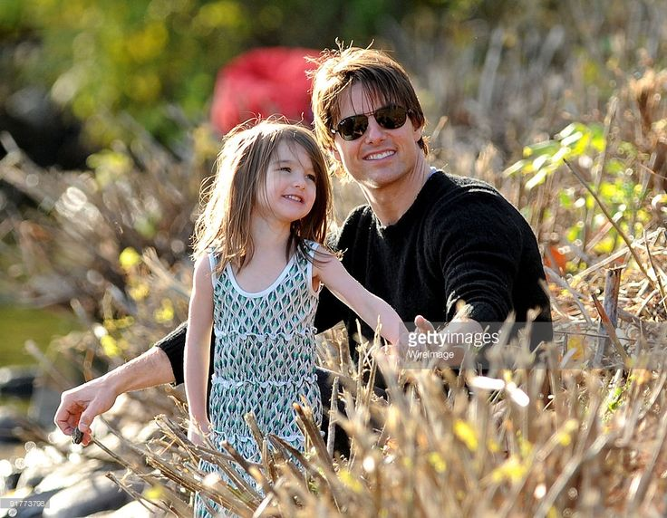 Suri Cruise and Tom Cruise visit Charles River Basin on October 10, 2009 in Cambridge, Massachusetts.