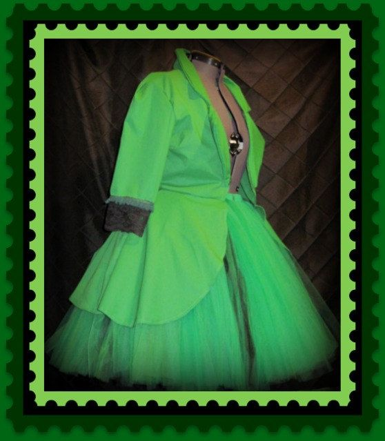 Plus Size Tutu Skirt  Gothic Jacket Outfit by christiencollection, $150.00