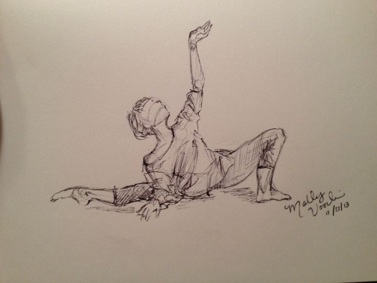 Dancer. sketch, by MGV. (floor stretches and warm-up... sighs!)