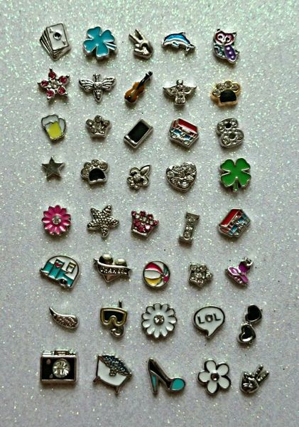 40 Piece Floating Charms for Locket