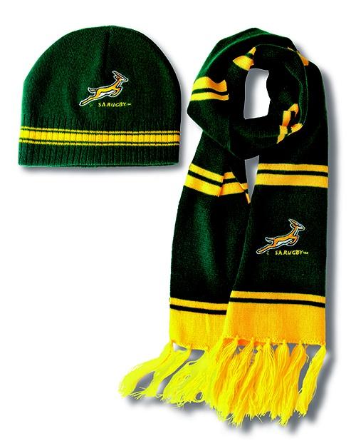 Springbok beanie scarf set
