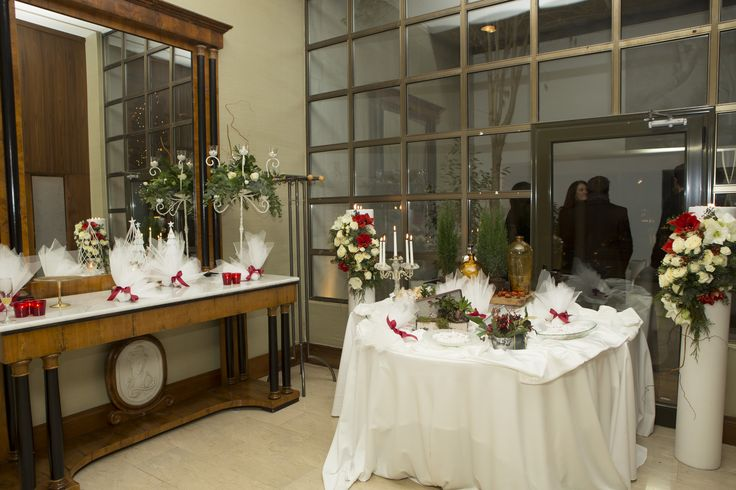 Moustakas flowers-Wedding decor with amaryllis flowers in luxury hotel Makedonia Palace #weddingcandles #amaryllis #weddingreception #weddingdecor