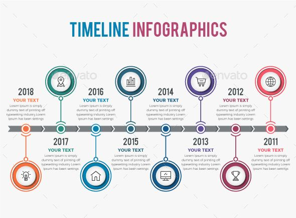 timeline infographics 8 steps template vector eps ai illustrator