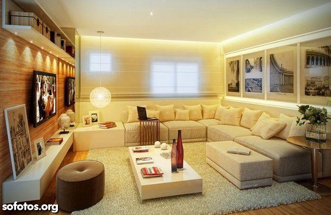 Sala De Estar Decorada ~ sala de estar decorada  Sala de estar  Pinterest  Theater, Home and