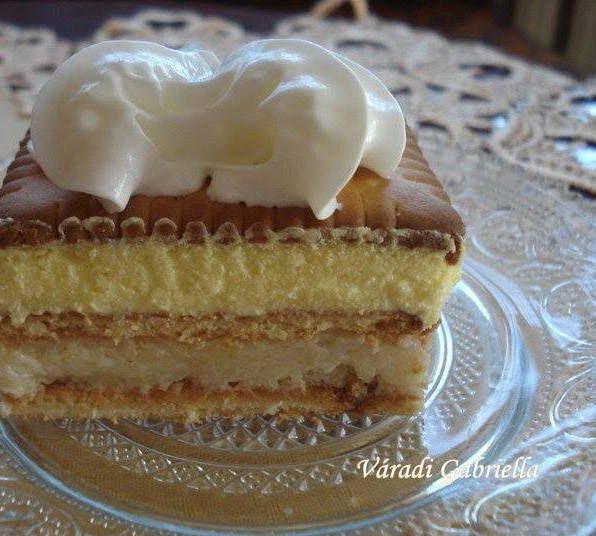Csodálatos pudingos-grízes vajas kekszes sütemény!