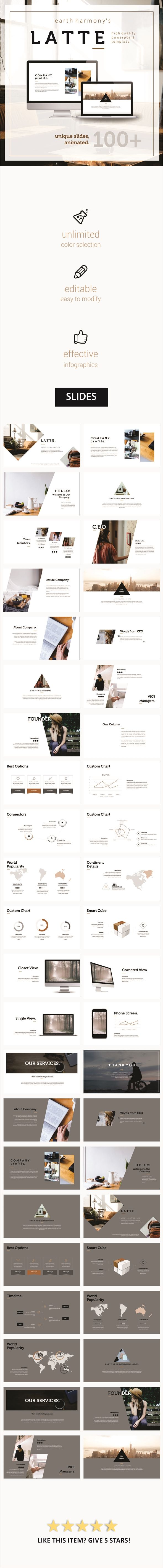 LATTE - exclusive template. (PowerPoint Templates)