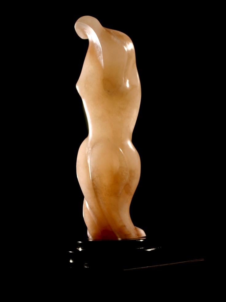 Goddess of Courage   alabaster  by Sharon Gainsburg