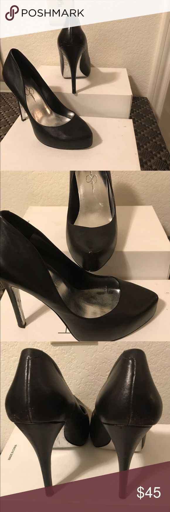 Teluride Pump by Jessica Simpson Sophisticated and Classic Black Pump to accentuate your work or play attire! Gently worn Jessica Simpson Shoes Heels
