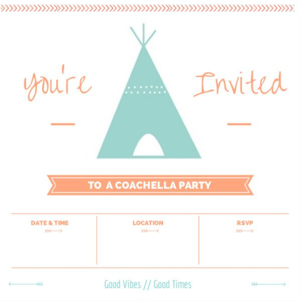 throw a coachella inspired party at home