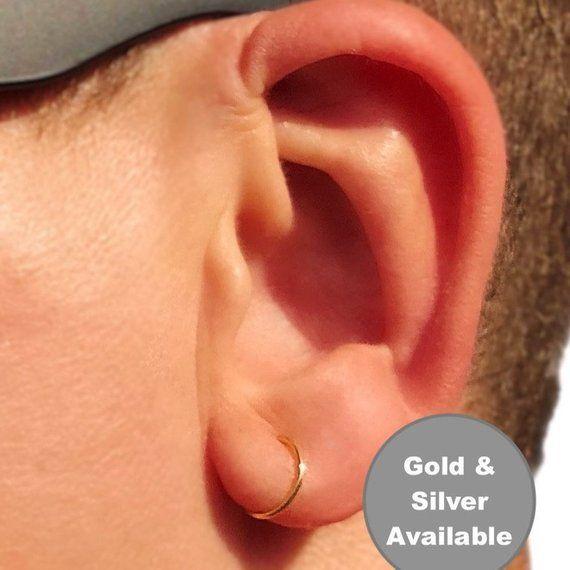 271d3a379 Mens Hoop Earring Hoop Earrings Mens Earrings Silver Hoop Earrings  Minimalist Earrings Mens Jewelry