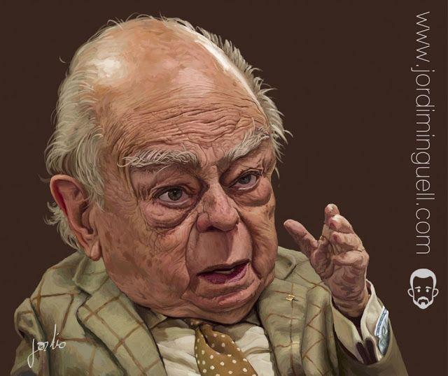 Caricatura del ex-político catalán Jordi Pujol, realizada por el artista Jordi Minguell.     Jordi ...