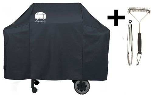 Texas Grill Cover 7573 | 7106 Premium Cover For Weber Spirit 200 And 300 Series And Weber Genesis Silver Gas Grill Including Grill Brush And Tongs, 2015 Amazon Top Rated Grill Covers #Lawn&Patio