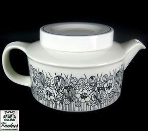Arabia Tea Pot Krokus Pattern Esteri Tomula Design 1978/79 Finland 11cm   eBay