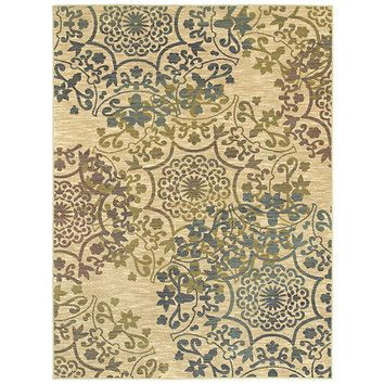 I think i'm going to make these my target colors for my living room. #someday Shaw Rugs Mirabella Almeria Beige Rug