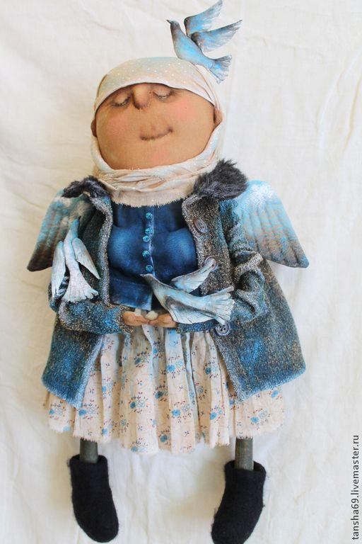 Божьи птахи... - синий,текстильная кукла,ароматизированная кукла,интерьерная…