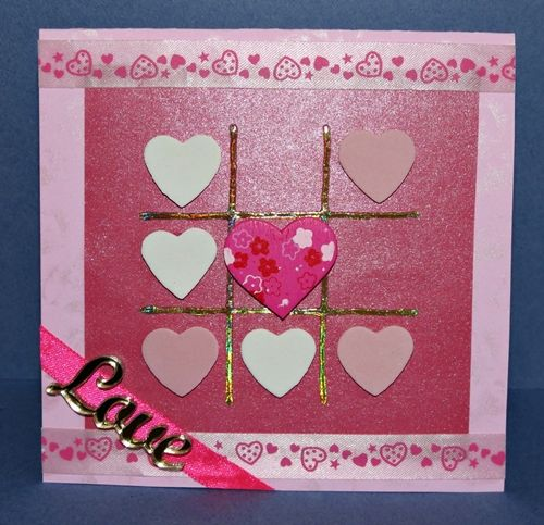 Use some basic craft supplies and add a modern twist to an old theme. Play tic-tac-toe and get three in a row when you make this Vivid Valentine's Day Tic-Tac-Toe Card. Your valentine wont be able to miss this unique declaration of love.  #FaveCrafter