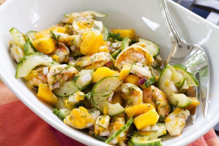 Dilled Shrimp, Mango and Cucumber Salad