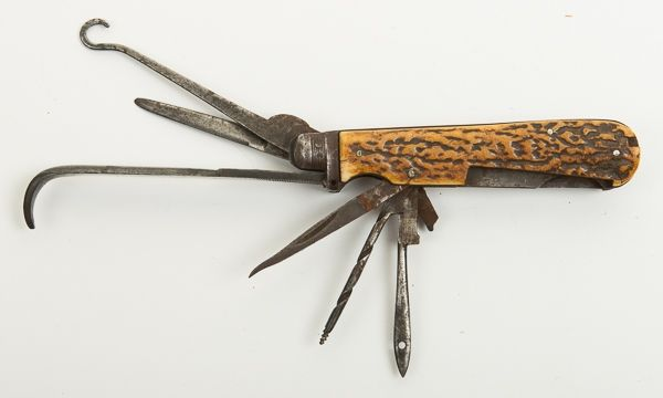 A Rare 19th Century Liverpool Carriage / Horseman's Knife