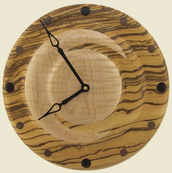 Crescent moon design wall clock of Zebra and Curly by twigsoup, $109.00