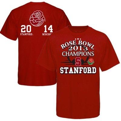 Stanford Cardinal 2013 Rose Bowl Champions Score T-Shirt - Cardinal