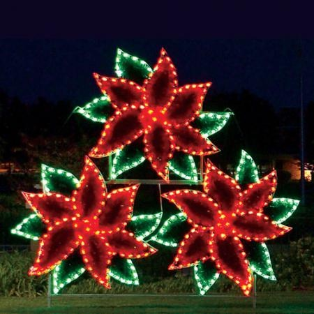 11 foot high commercial poinsettia c7 led holiday light display ask about our layaway program - How To Program Christmas Lights