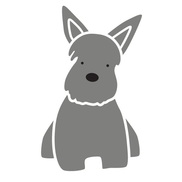 Terrier Dog Wall Stencil for Kids Pet Mural or Animal Themed Nursery