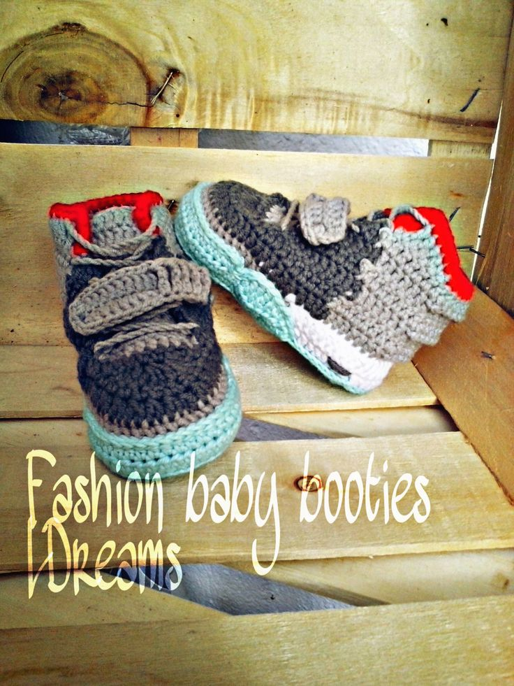 Crochet Yeezy : NEW MODEL Yeezy 2 Baby Booties, Crochet Yeezy boost, crochet booties ...