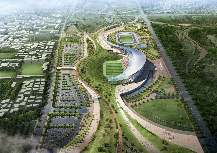 Populous completa estadio principal de los Juegos Asiáticos Incheon 2014 en Incheon, Corea del Sur - Arch2O.com