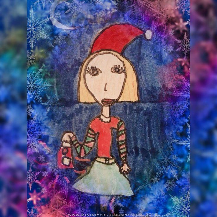 Tonttutyttö Hamleysin taikatusseilla - Elf girl with the Hamleys' magic markers