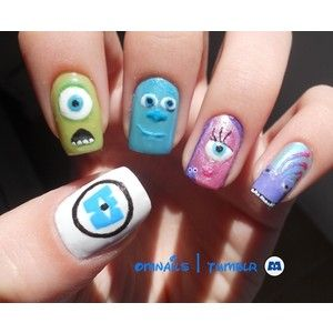 disney had painted nails - Google SearchMonsters Nails, Nails Art, Nailart, Nails Design, Monster Inc Nails, Nailsart, Monstersinc, Disney Nails, Monsters Inc Nails
