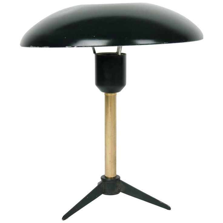 Black and Brass Table Lamp   From a unique collection of antique and modern table lamps at https://www.1stdibs.com/furniture/lighting/table-lamps/