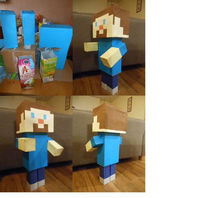 Zeer populair onder de jongen gamers Minecraft. Wat is er dan leuker als een Minecraft poppetje als surprise. Door de blokjes vormen zeer makkelijk om te maken. Allerlei doosjes en dan gewoon plakken met gekleurd papier.