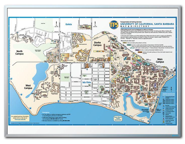 UC Santa Barbara Campus Map Dry Erase Board - https://dryerasedesigns.com/santa-barbara-campus-map-dry-erase-board/