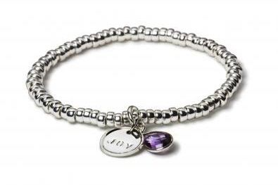 You can personalize this bracelet with up to 8 letters, or choose the charms of your choice. Today I am all about JOY!