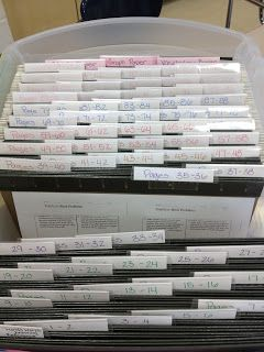 bin with a folder for each page, labeled with the page number - Mrs. Ko's Klassroom: Interactive Student Notebooks