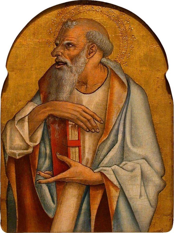 570. Carlo Crivelli - Polittico di Montefiore dell'Aso - Apostolo barbuto - 1471 - Honolulu, Honolulu Academy of Arts