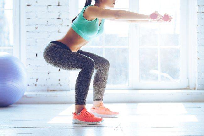 Übung für die Oberschenkel: Squats