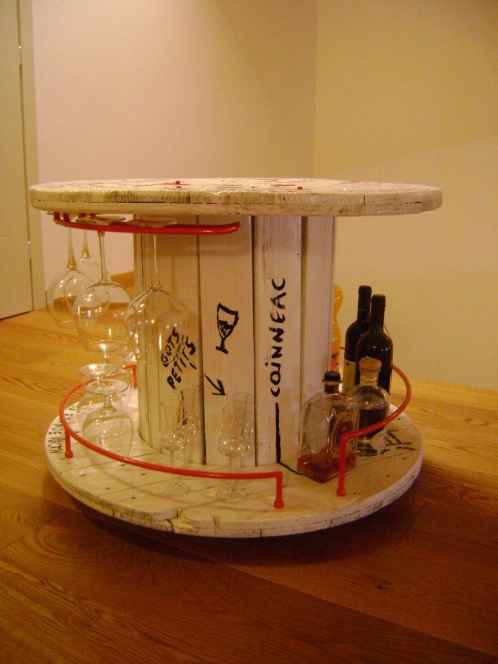 LOOK THERE Rocchetto da elettricista portabottiglie