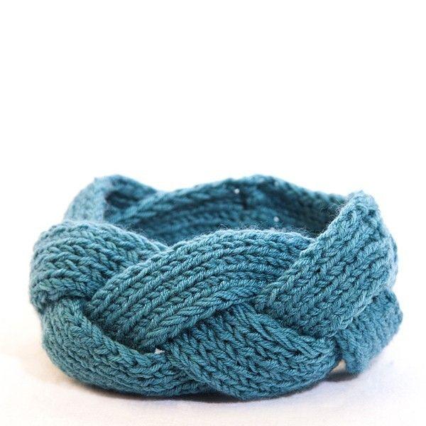 Diademas de punto turquoise bufanda cuello las diademas - Puntos de lana ...