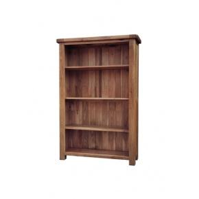 Rustic Solid Oak SRDK25 5FT Bookcase  www.easyfurn.co.uk