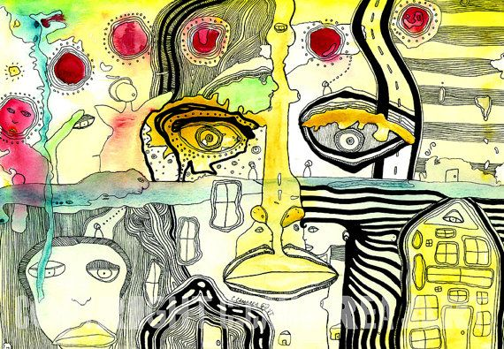 Psychedelische Wall Art  C.Cambrea  bunte von CambreaGallery