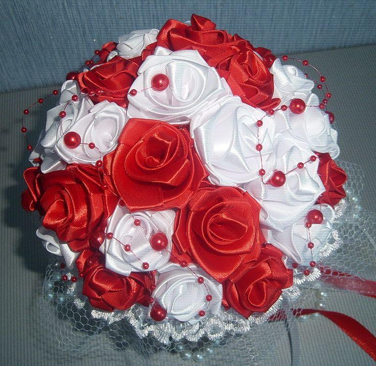 Цветов, свадебный букет цветы из лент цена