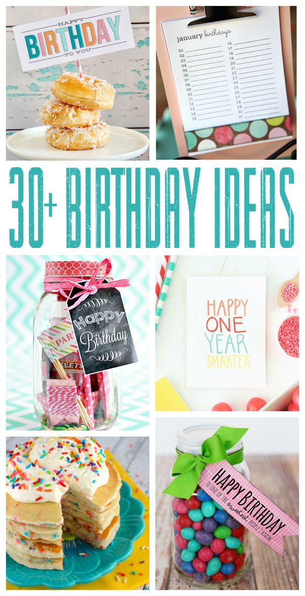 Birthdays… they come whether we want them to or not. Might as well enjoy them. We've gathered lots of fun gift ideas, recipes, decorations and more for you to try. Hope they help make your celebrations a little more special! Birthday Subway Art | Eighteen25  Funfetti Birthday Pancakes | Delightful E Made via Lil' …