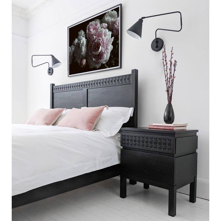 Awesome Black Bed Side Table